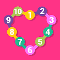 Connect the dots learn numbers game icon
