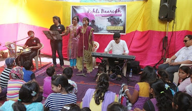 Photo: Nikita Gaikwad from Urja shared her gift of music with a Marathi and a Hindi song.