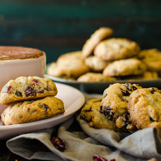 Chocolate Chip & Cranberry Shortbread Cookies.