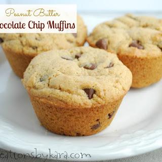 Peanut Butter Chocolate Chip Muffins.