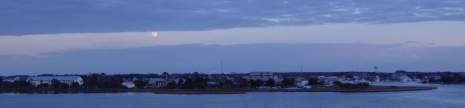 Photo: Moon Rising over Beaufort