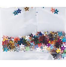 Star Sequins 5mm 400/Pkg - Multi Color UTGÅENDE