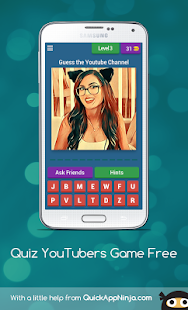 Quiz YouTubers Game Guess Free - náhled