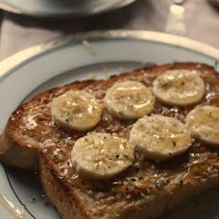 Peanut Butter Banana Hemp Seed & Honey Toast.