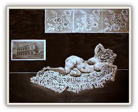 Photo: Antonio Berni Ramona y la ventana 1968. Xilo-collage-relieve. Matriz xilográfica: 40 x 44 cm. Estampa: 56 x 60 cm. Colección particular, Buenos Aires. Expo: Antonio Berni. Juanito y Ramona (MALBA 2014-2015)