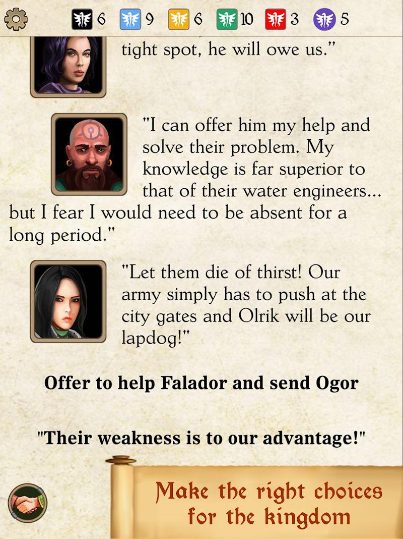 Silmaris - strategic boardgame and text adventures Screenshot 11