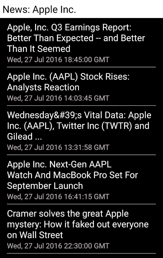 Stocks - US Stock Quotes- screenshot