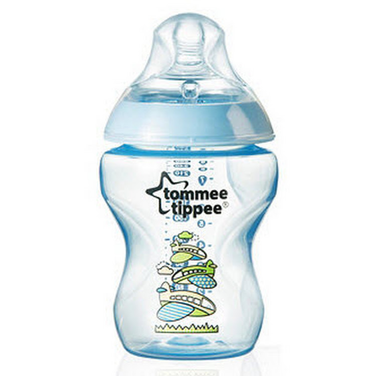 TOMMEE TIPPEE Closer to Nature 260ml/9oz Blue Bottle (BPA Free) by GREEN WHEEL INTERNATIONAL SDN BHD