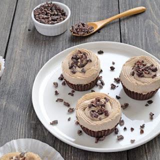 Chocolate Cashew Cream Cupcakes