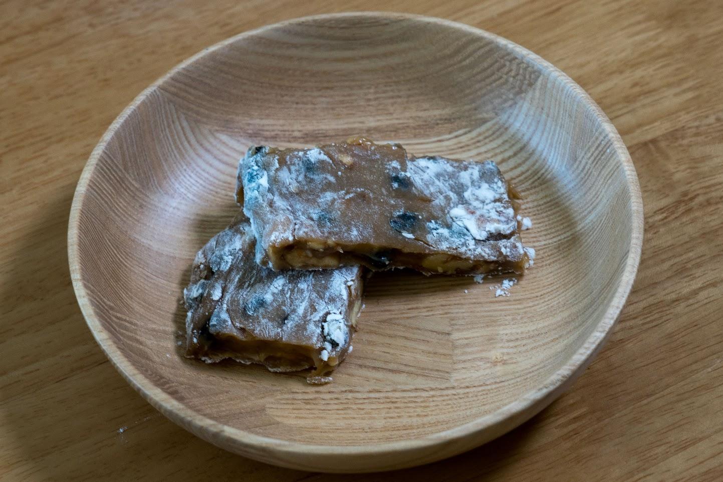 黒千石レシピ:No.16 黒千石大豆とくるみのゆべし
