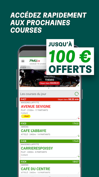 PMU Hippique – Courses, Turf, Quinté, Tiercé, Pari Android App Screenshot