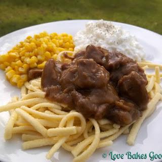 Sauerbraten Beef in Gingersnap Gravy