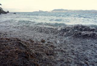 Photo: Eau et algues inlassablement broyées dans le chaudron de quelle sorcière ?