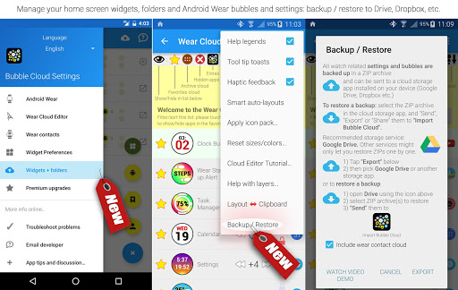 Bubble Cloud Wear Launcher Watchface (Wear OS) 9.39 screenshots 23
