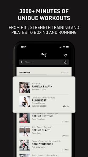 PUMATRAC Home Workouts, Training, Running, Fitness screenshots 6