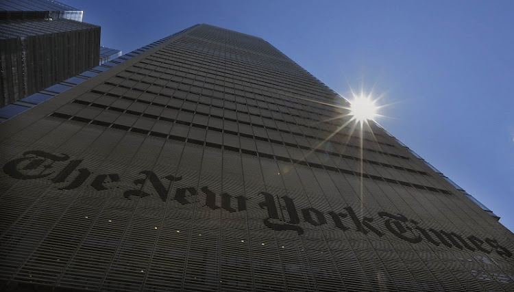 The New York Times building in New York. Picture: REUTERS