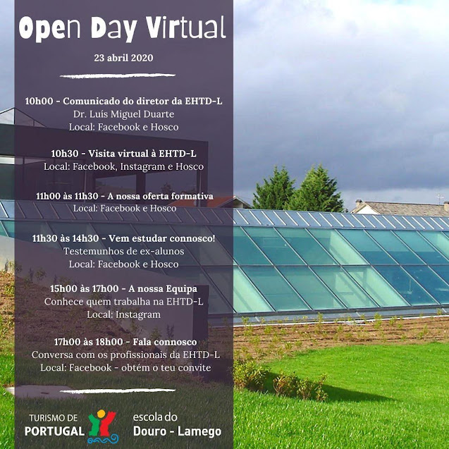 Escola de Hotelaria do Douro – Lamego organiza Open Day Virtual dia 23 de abril