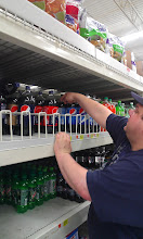 Photo: Hubby HAD to get his nectar - Pepsi MAX!! He always has to use the metal hook to reach it, but he drinks a LOT of MAX!!