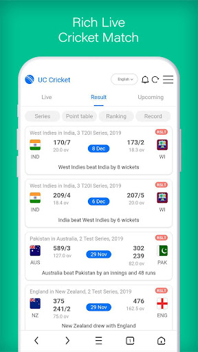 UC Cricket -UC Browser Official Cricket Product screenshot 7