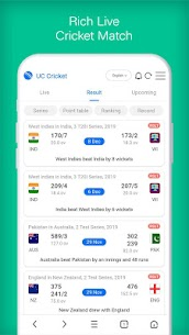 UC Cricket – Live Cricket Score, news & Cricinfo Apk  Download For Android 7