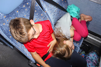 Photo: They conked out on the bus!