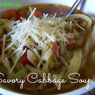 Savory Cabbage Soup.