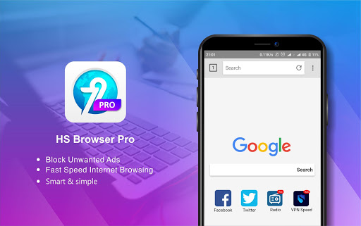 Download HS Browser 4G - Light & Fast Browser on PC & Mac