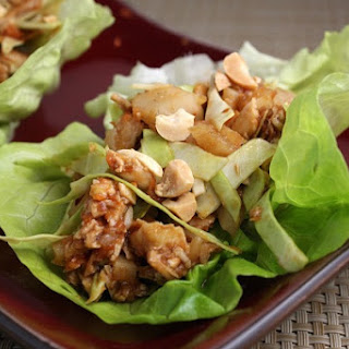 Sweet & Spicy Chicken Lettuce Wraps.