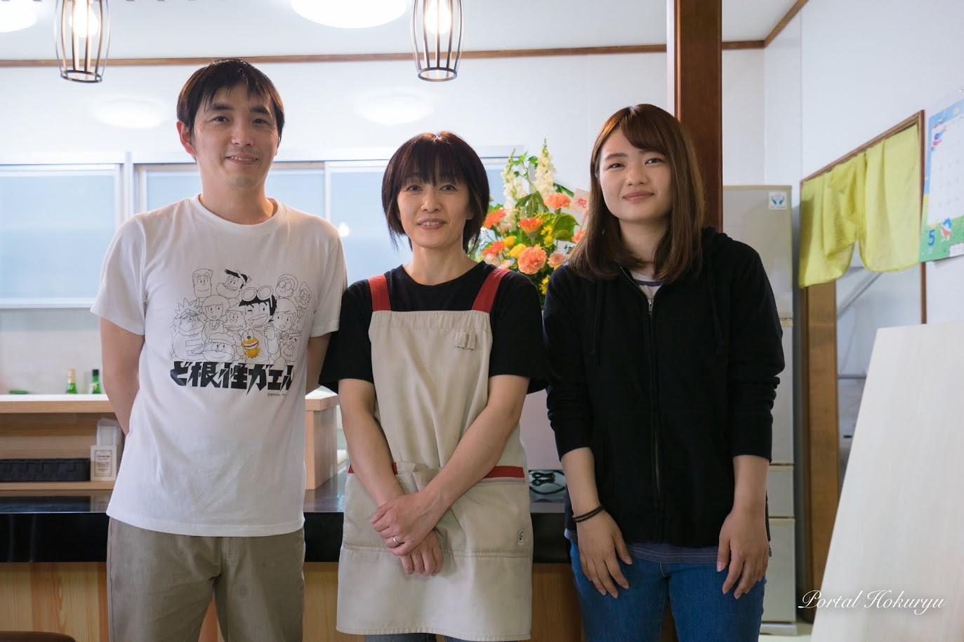 佐藤光男さん、奥様・裕子さん、娘さん・三奈さん