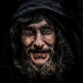 Charlie by Eddie Leach - People Portraits of Men ( dark, beard, men, man, portrait,  )