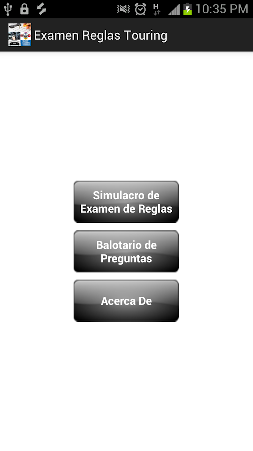 Examen Reglas Touring- screenshot