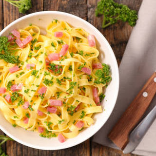 Ham & Fettuccini Bowl.