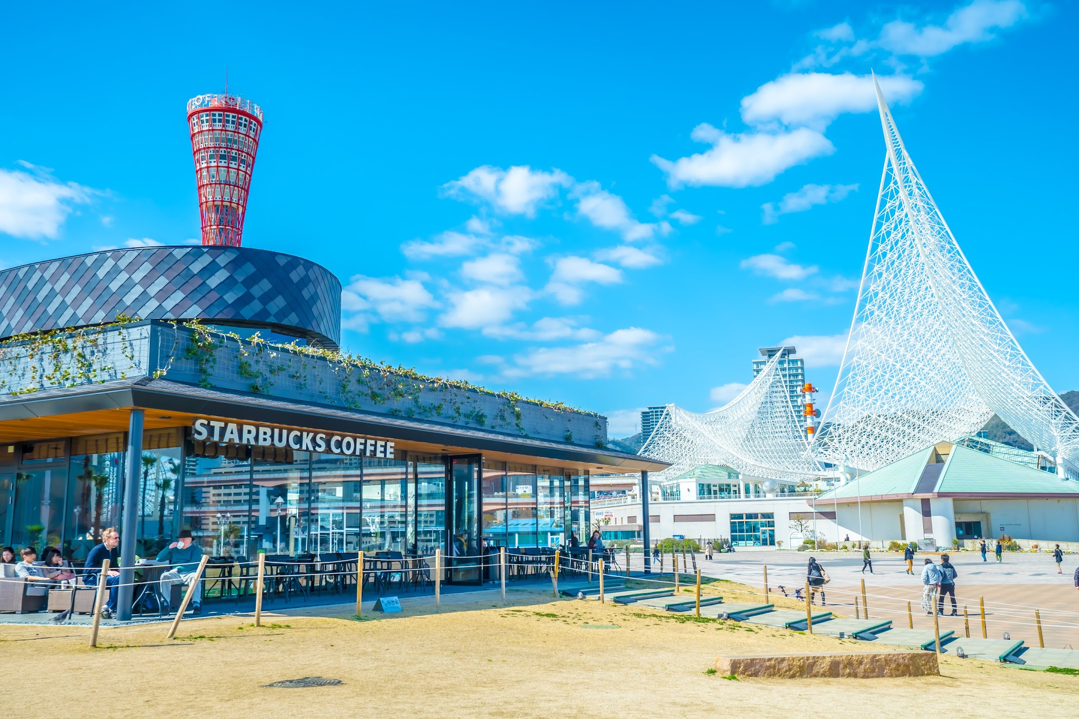 神戸 メリケンパーク スターバックス