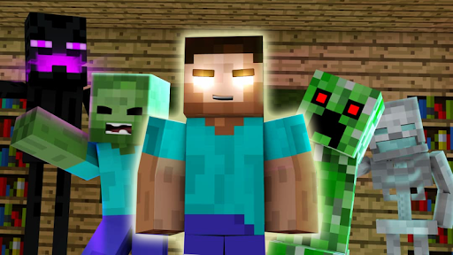Herobrine Monster School Mod for Minecraft PE screenshot 2