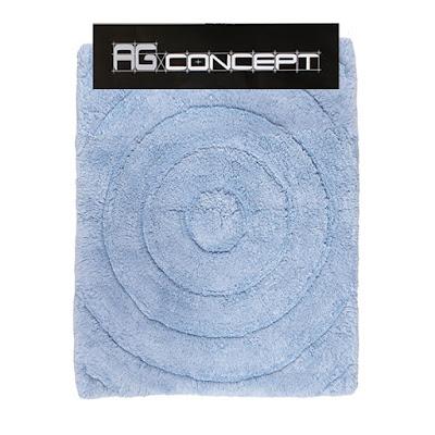 Коврик AG concept голубой кашемир с кругами 70х120 см