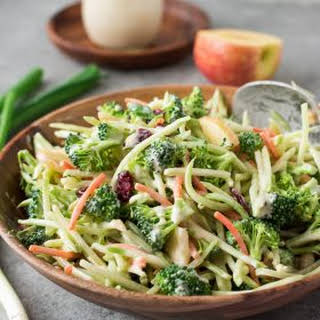 Broccoli Slaw Salad with Creamy No Mayo Dressing.