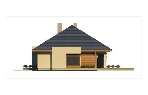 Alabama 2 wersja C z pojedynczym garażem - Elewacja prawa