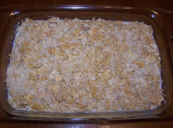 Pour mixture into a small to medium sized  buttered casserole baking dish.
