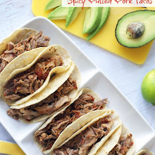 World's Best Slow Cooker Spicy Pulled Pork Tacos.