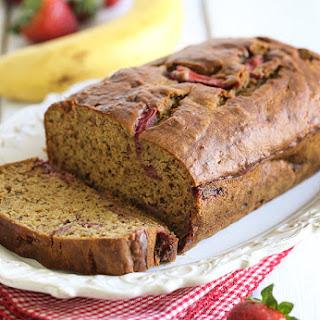 Roasted Strawberry Banana Bread
