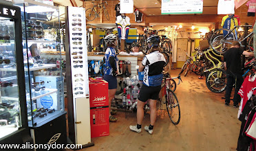 """Photo: visiting the famous """"Bike Barn"""" in Penticton"""