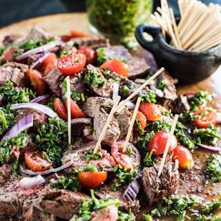 Chimichurri Steak Bites.