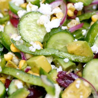 Persian Cucumber Salad With Corn and Feta.