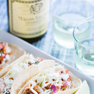 Chipotle Shrimp Tacos with White Sauce