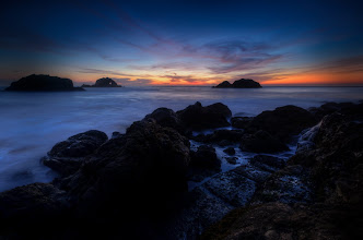 Photo: Wait a minute San Francisco, CA. 2012.  The fourth and final image from the recent sunset shoot with +Barry Blanchard, +Chris Chabot, and +Joe Azure. I love that a few minutes makes such a big difference in the outcome. This shot was taken pretty much at the end of the session while we were still at the rocks.  Link to my other image made from this same spot, slightly different composition, and very different light conditions. http://goo.gl/dIUqY (Just a few minutes difference)