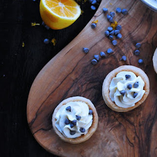 Mini Meyer Lemon Cannoli Cream Tartlets