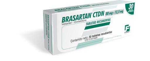 Valsartan - Clortalidona  Brasartan CTDN  80mg-12.5mg 30 tabletas Lab Farma.