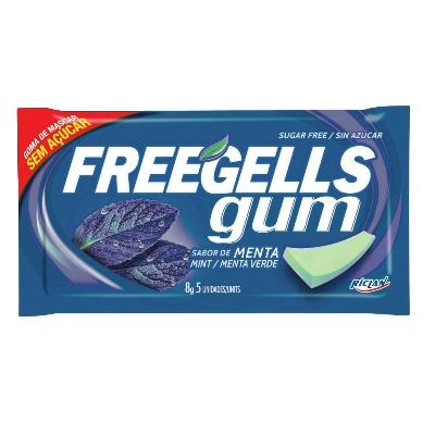 chicle freegells menta azul 8gr