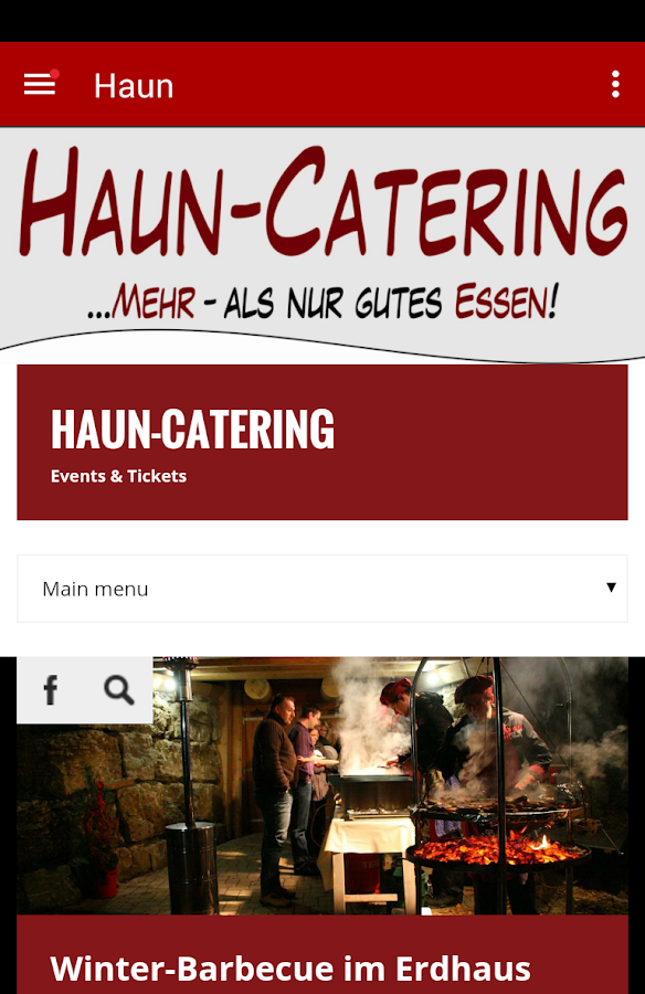 Haun-Catering – Screenshot