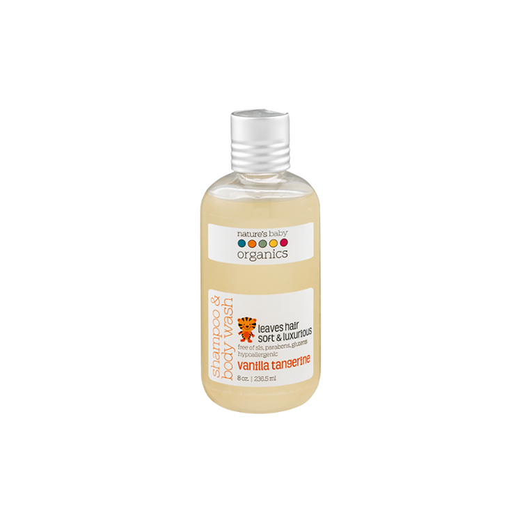 Nature's Baby Organics Shampoo & Body Wash 8oz - Vanilla Tangerine by GREEN WHEEL INTERNATIONAL SDN BHD